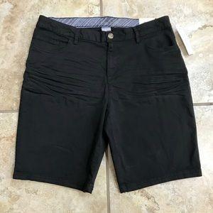 Time and Tru Black Bermuda Shorts NWT